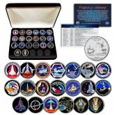 SPACE SHUTTLE PROGRAM MAJOR EVENTS NASA Florida Statehood Quarters 20-Coin Set with BOX