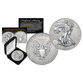 2016 American Silver Eagle Uncirculated 1 oz One Ounce U.S. Coin with Reverse Mirrored Imaging & Frosting Technology – SILVER EDITION (with BOX)