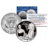 SOPHIA LOREN & JAYNE MANSFIELD - Colorized JFK Kennedy Half Dollar U.S. Coin