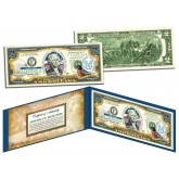 CONNECTICUT $2 Statehood CT State Two-Dollar U.S. Bill - Genuine Legal Tender
