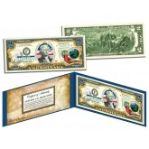 INDIANA $2 Statehood IN State Two-Dollar U.S. Bill - Genuine Legal Tender
