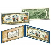 KANSAS $2 Statehood KS State Two-Dollar U.S. Bill - Genuine Legal Tender