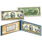 MASSACHUSETTS $2 Statehood MA State Two-Dollar U.S. Bill - Genuine Legal Tender
