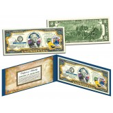 NEW JERSEY $2 Statehood NJ State Two-Dollar U.S. Bill - Genuine Legal Tender