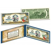 NORTH CAROLINA $2 Statehood NC State Two-Dollar U.S. Bill - Genuine Legal Tender