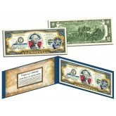 OKLAHOMA $2 Statehood OK State Two-Dollar U.S. Bill - Genuine Legal Tender