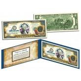RHODE ISLAND $2 Statehood RI State Two-Dollar U.S. Bill - Genuine Legal Tender