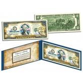 TENNESSEE $2 Statehood TN State Two-Dollar U.S. Bill - Genuine Legal Tender