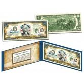 UTAH $2 Statehood UT State Two-Dollar U.S. Bill - Genuine Legal Tender