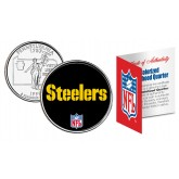 PITTSBURGH STEELERS NFL Pennsylvania US Statehood Quarter Colorized Coin  - Officially Licensed