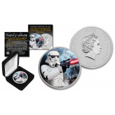 2018 NZM Niue 1 oz Pure Silver BU Star Wars STORMTROOPER Coin with HOTH BATTLE Backdrop - Limited of 218
