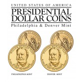 WILLIAM HOWARD TAFT 2013 Presidential $1 Dollar 2-Coin US Mint Set - BOTH P&D MINT