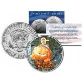 GARFIELD BALLOON 1986 Macy's THANKSGIVING DAY PARADE - Colorized 2014 JFK Kennedy Half Dollar U.S. Coin