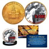 1976 Bicentennial JFK Kennedy Half Dollar - WW II V-J DAY - 24K Gold Plated Coin