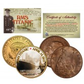 1912 TITANIC - 100th Anniversary - 2-Coin Set 24K JFK Half Dollar & 1912 UK Penny