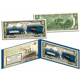 TITANIC Ship * Famous Nighttime Iceberg Image * 100th Anniversary Genuine $2 US Bill