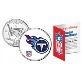 TENNESSEE TITANS NFL Tennessee US Statehood Quarter Colorized Coin  - Officially Licensed