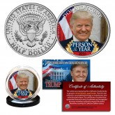 DONALD TRUMP 2016 Person of the Year Official JFK Kennedy Half Dollar U.S. Coin
