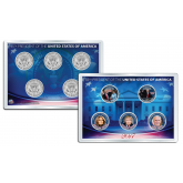 DONALD TRUMP 45th President Official 2017 JFK Kennedy Half Dollar U.S. 5-Coin Set with 4x6 Lens Display