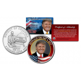 DONALD J. TRUMP 45th President of the United States Official Washington DC Statehood Quarter - add and update your President Set with this coin
