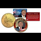 BARACK OBAMA 44th President 24KT Gold Plated HAWAII Statehood Quarter 4-Coin Set