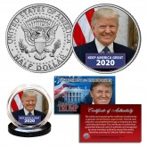 DONALD TRUMP Keep America Great 2020 Official JFK Kennedy Half Dollar U.S. Coin