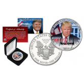 DONALD TRUMP 45th President of the United States OFFICIAL PORTRAIT 2017 1 oz. U.S. AMERICAN SILVER EAGLE  in Deluxe Black Felt Coin Display Gift Box