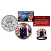 DONALD & MELANIA TRUMP Offical White House Christmas Photo JFK Half Dollar U.S. Coin