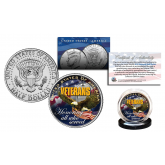 VETERANS U.S.A. Honoring all who Served Official JFK Kennedy Half Dollar U.S. Coin