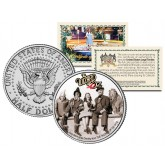 WIZARD OF OZ - Cast with Wizard Publicity Photo - Colorized JFK Kennedy Half Dollar US Coin - Officially Licensed
