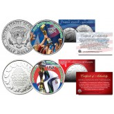 USA WOMEN'S Team 2015 CANADA WORLD CUP CHAMPIONS Soccer Colorized 2-Coin Set - RARE TEST ISSUE