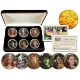 WIZARD OF OZ Eisenhower IKE Dollar US 6-Coin Set 24K Gold Plated with Display Box - Officially Licensed