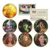 WIZARD OF OZ 1976 Eisenhower IKE Dollar US 6-Coin Set 24K Gold Plated - Officially Licensed