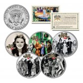 WIZARD OF OZ Movie Colorized JFK Half Dollar U.S. 5-Coin Set - Officially Licensed