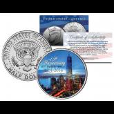 WORLD TRADE CENTER * 15th Anniversary * 9/11 JFK Kennedy Half Dollar U.S. Coin ONE 1 WTC