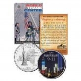 WORLD TRADE CENTER * 17th Anniversary * 9/11 New York Statehood Quarter U.S. Coin WTC