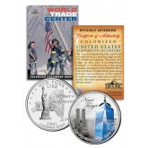 WORLD TRADE CENTER - 14th Anniversary - 9/11 NY State Quarter US Coin ONE 1 WTC