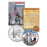 WORLD TRADE CENTER - 5th Anniversary - 9/11 New York State Quarter U.S. Coin WTC