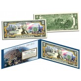 WORLD TRADE CENTER - Then & Now - 14th Anniversary 9/11 WTC Colorized $2 Bill - NEVER FORGET