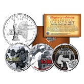 WORLD WAR II 3-Coin Set NY Statehood US Quarters - D-DAY - V-J DAY - End of WWII