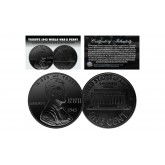 TRIBUTE 1943 World War II Steelie PENNY Coin Clad in Genuine Black Ruthenium (Lot of 3)