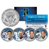 YANKEES CORE FOUR 4-Coin Set JFK Kennedy Half Dollar US - JETER MARIANO POSADA PETTITTE