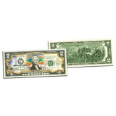 YELLOWSTONE NATIONAL PARK Colorized $2 Bill - Genuine Legal Tender