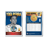 YOGI BERRA Baseball Legends JFK Kennedy Half Dollar 24K Gold Plated US Coin Displayed with 4x6 Display Card