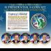 2016 Presidential $1 Dollar Colorized 2-Sided * 5-Coin Set * Living President Series - Carter, HW Bush, Clinton, Bush, Obama