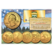 2016 America The Beautiful 24K GOLD PLATED Quarters U.S. Parks 5-Coin Set with Capsules
